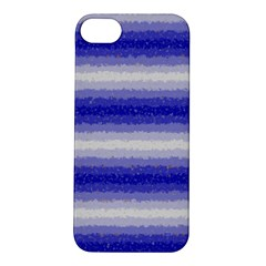 Horizontal Dark Blue Curly Stripes Apple Iphone 5s Hardshell Case