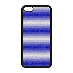 Horizontal Dark Blue Curly Stripes Apple iPhone 5C Seamless Case (Black)