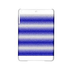 Horizontal Dark Blue Curly Stripes Apple Ipad Mini 2 Hardshell Case