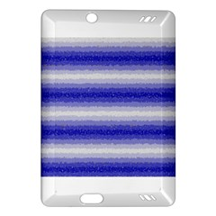 Horizontal Dark Blue Curly Stripes Kindle Fire HD (2013) Hardshell Case