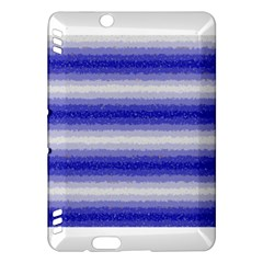Horizontal Dark Blue Curly Stripes Kindle Fire Hdx Hardshell Case