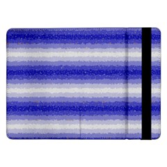 Horizontal Dark Blue Curly Stripes Samsung Galaxy Tab Pro 12.2  Flip Case