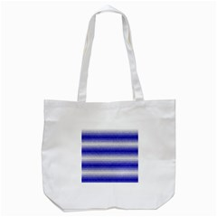 Horizontal Dark Blue Curly Stripes Tote Bag (White)