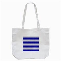 Horizontal Dark Blue Curly Stripes Tote Bag (white)