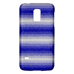 Horizontal Dark Blue Curly Stripes Samsung Galaxy S5 Mini Hardshell Case