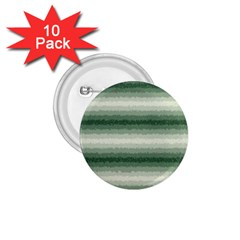 Horizontal Dark Green Curly Stripes 1 75  Button (10 Pack)
