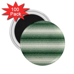 Horizontal Dark Green Curly Stripes 2 25  Button Magnet (100 Pack)