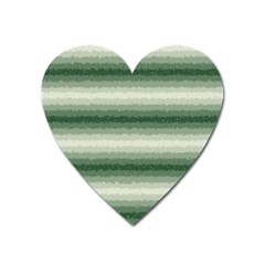 Horizontal Dark Green Curly Stripes Magnet (heart)