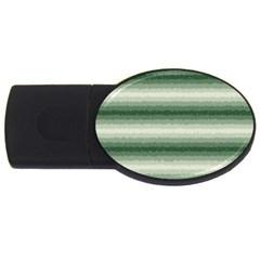 Horizontal Dark Green Curly Stripes 2gb Usb Flash Drive (oval)