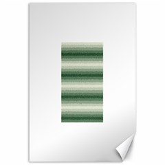 Horizontal Dark Green Curly Stripes Canvas 24  x 36  (Unframed)