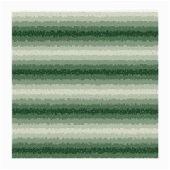 Horizontal Dark Green Curly Stripes Glasses Cloth (medium, Two Sided)