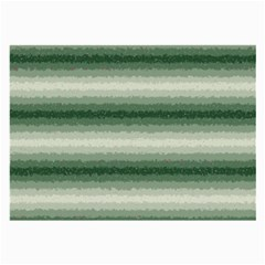 Horizontal Dark Green Curly Stripes Glasses Cloth (Large, Two Sided)