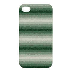 Horizontal Dark Green Curly Stripes Apple Iphone 4/4s Hardshell Case