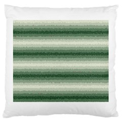 Horizontal Dark Green Curly Stripes Large Cushion Case (two Sided)