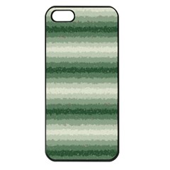 Horizontal Dark Green Curly Stripes Apple Iphone 5 Seamless Case (black)