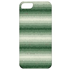 Horizontal Dark Green Curly Stripes Apple Iphone 5 Classic Hardshell Case