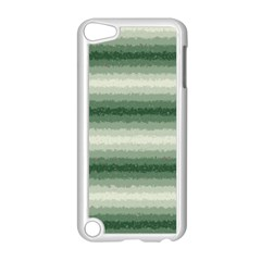 Horizontal Dark Green Curly Stripes Apple iPod Touch 5 Case (White)