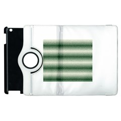 Horizontal Dark Green Curly Stripes Apple Ipad 3/4 Flip 360 Case