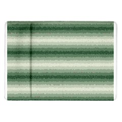 Horizontal Dark Green Curly Stripes Samsung Galaxy Tab 10.1  P7500 Flip Case