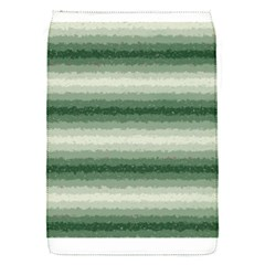 Horizontal Dark Green Curly Stripes Removable Flap Cover (small)