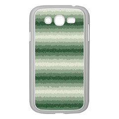 Horizontal Dark Green Curly Stripes Samsung Galaxy Grand DUOS I9082 Case (White)