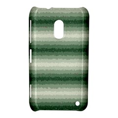 Horizontal Dark Green Curly Stripes Nokia Lumia 620 Hardshell Case