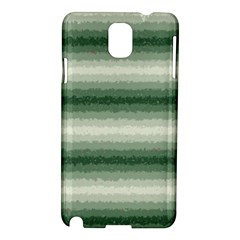 Horizontal Dark Green Curly Stripes Samsung Galaxy Note 3 N9005 Hardshell Case