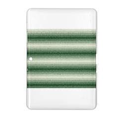 Horizontal Dark Green Curly Stripes Samsung Galaxy Tab 2 (10.1 ) P5100 Hardshell Case