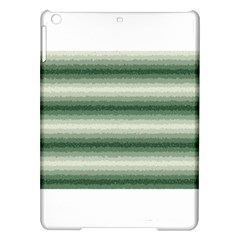 Horizontal Dark Green Curly Stripes Apple iPad Air Hardshell Case