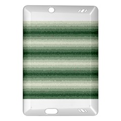 Horizontal Dark Green Curly Stripes Kindle Fire HD (2013) Hardshell Case