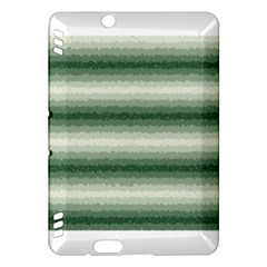 Horizontal Dark Green Curly Stripes Kindle Fire HDX Hardshell Case