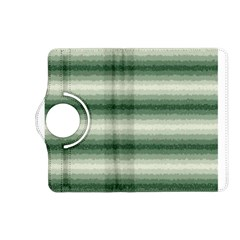 Horizontal Dark Green Curly Stripes Kindle Fire HD (2013) Flip 360 Case