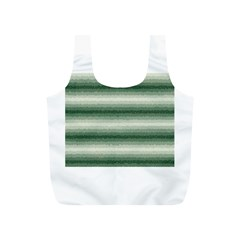 Horizontal Dark Green Curly Stripes Reusable Bag (S)