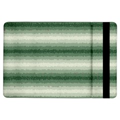 Horizontal Dark Green Curly Stripes Apple Ipad Air Flip Case