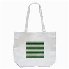 Horizontal Dark Green Curly Stripes Tote Bag (white)