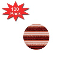 Horizontal Native American Curly Stripes   1 1  Mini Button (100 Pack)