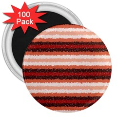 Horizontal Native American Curly Stripes - 1 3  Button Magnet (100 pack)