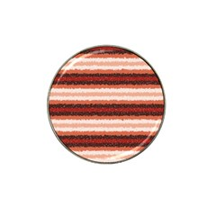 Horizontal Native American Curly Stripes - 1 Golf Ball Marker (for Hat Clip)