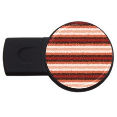 Horizontal Native American Curly Stripes   1 4gb Usb Flash Drive (round)