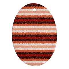 Horizontal Native American Curly Stripes   1 Oval Ornament (two Sides)