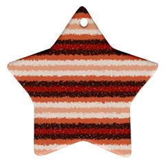 Horizontal Native American Curly Stripes   1 Star Ornament (two Sides)