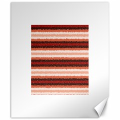 Horizontal Native American Curly Stripes   1 Canvas 20  X 24  (unframed)
