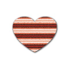 Horizontal Native American Curly Stripes   1 Drink Coasters 4 Pack (heart)