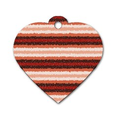 Horizontal Native American Curly Stripes   1 Dog Tag Heart (one Sided)