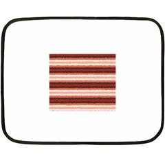 Horizontal Native American Curly Stripes   1 Mini Fleece Blanket (two Sided)