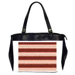 Horizontal Native American Curly Stripes   1 Oversize Office Handbag (two Sides)