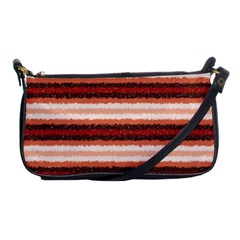 Horizontal Native American Curly Stripes   1 Evening Bag