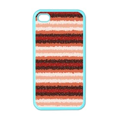 Horizontal Native American Curly Stripes   1 Apple Iphone 4 Case (color)