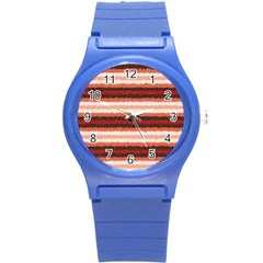 Horizontal Native American Curly Stripes   1 Plastic Sport Watch (small)