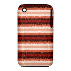 Horizontal Native American Curly Stripes - 1 Apple iPhone 3G/3GS Hardshell Case (PC+Silicone)